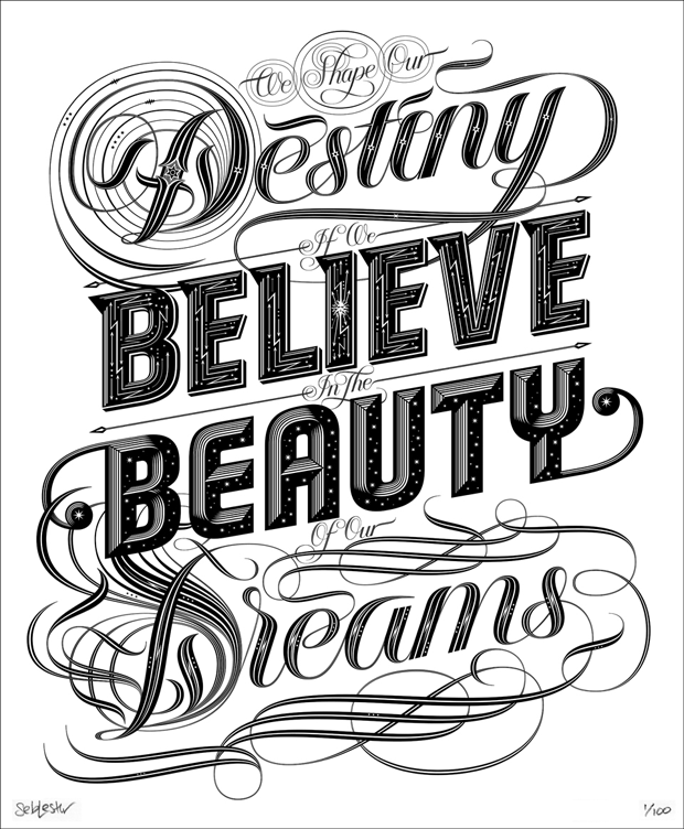 Imagem do I Love Typography:         'Dreams', 'Stars' & 'So Much To Do'