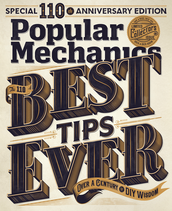 Imagem do Behance: Popular Mechanics 110th Edition